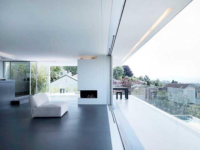 Modern house on lake zurich luxury real estates for Modern house zurich