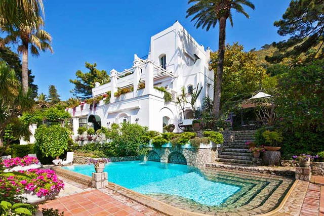 Majestic villa on Capri island