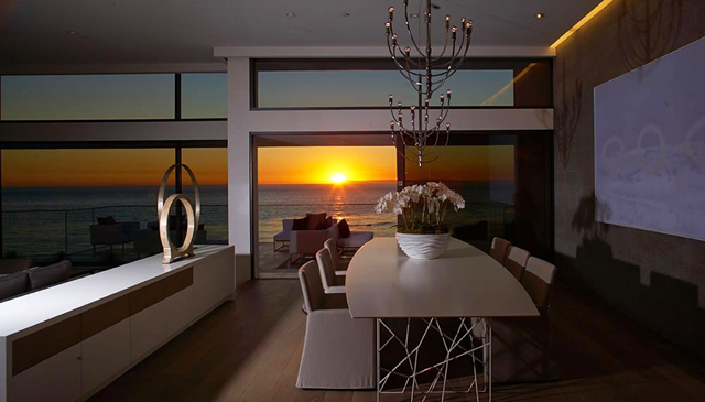 Modern house beach interior