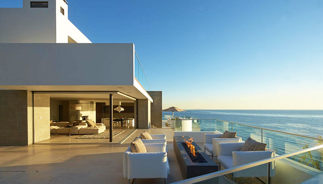 Modern house on the beach
