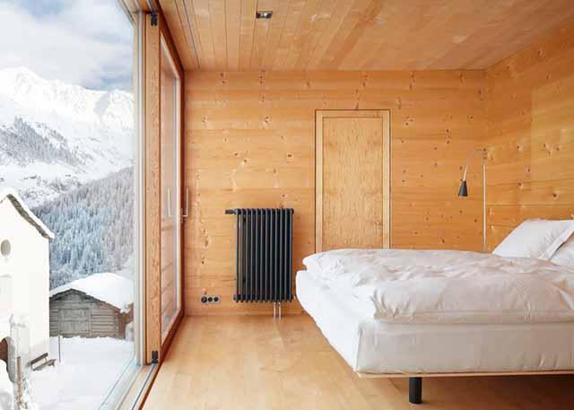 wooden houses bedroom