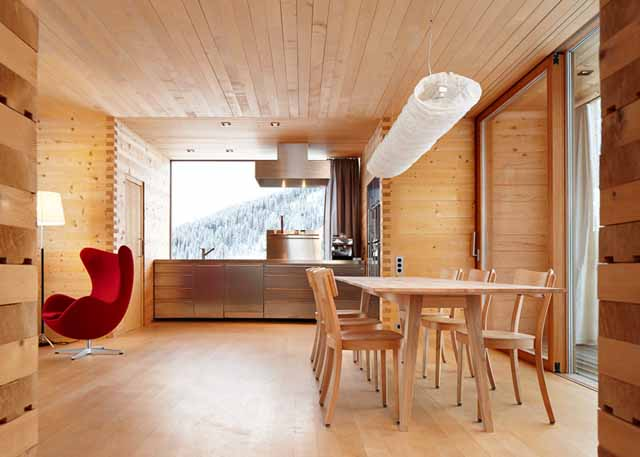 wooden houses interior