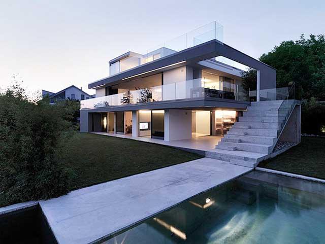 Modern House on Lake Zurich